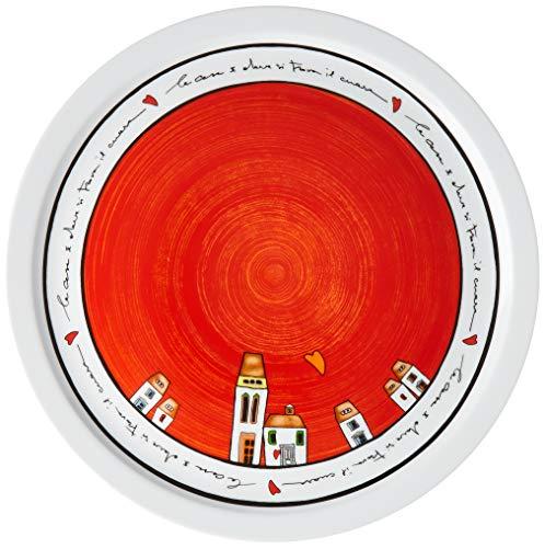 Egan Plato para pizza Le Casette rojo D.30
