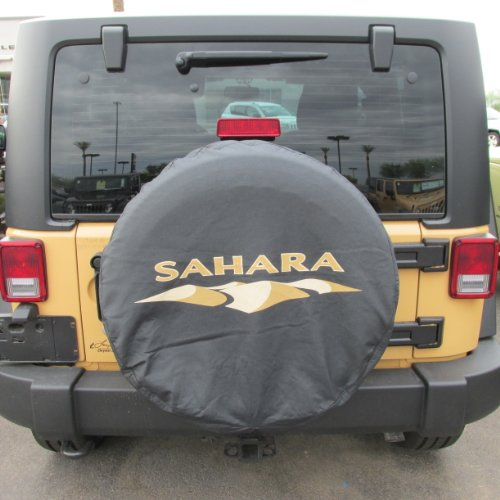 Genuine Jeep Accessories 82212321 Cloth Spare Tire Cover with Sahara Logo