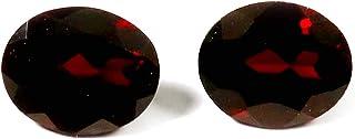 Gems&JewelsHub Granate Natural Cabujón Gema 2 piezas lote al por mayor 8,85 cts GTC50