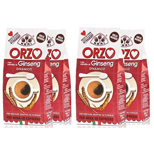 Tre Mori 4 Confezioni di ORZO al Ginseng 250 gr. - Ginseng - Ginseng Ginseng Moka - Ginseng Espresso - Ginseng d\'orzo
