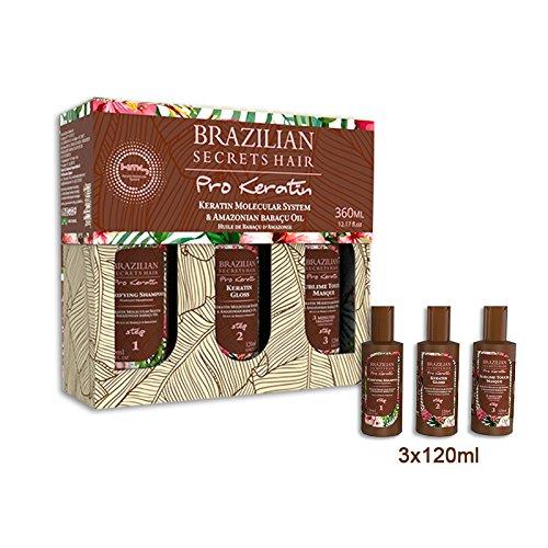 Kit lissage Brésilien Brazilian Secrets Hair Pro Keratin 360ml