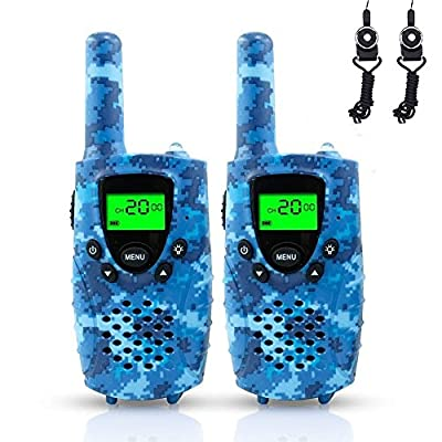 FAYOGOO Kids Walkie Talkies, 22-Channel FRS/GMRS Radio, 4-Mile Range Two Way Radios with Flashlight and LCD Screen, and Toys for 3-12 Year Old Boys and Girls from FAYOGOO