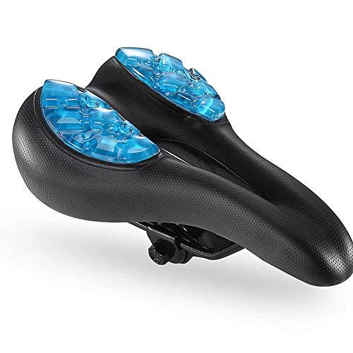 Selle De Vélo, Silicone Skidproof VTT Vélo Siège, Creux Ergonomique, Coussiné Fit pour Vélo De Route Et VTT - pour Hommes Et Femmes, Bleu