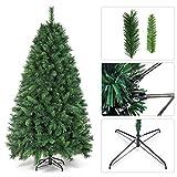SALCAR Weihnachtsbaum künstlich 180cm mit 580 Spitzen, Tannenbaum künstlich regenschirmsystem inkl. Christbaum-Ständer, Weihnachtsdeko - grün 1,8 m - 7