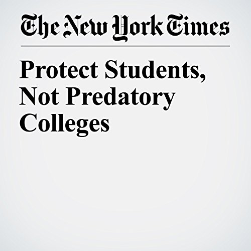 Protect Students, Not Predatory Colleges copertina