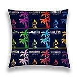 Rectángulo sofá hogar Decorativo Tiro Funda de Almohada Funda de cojín algodón poliéster impresión de Dos Lados Set Surfing Palms diseño de impresión