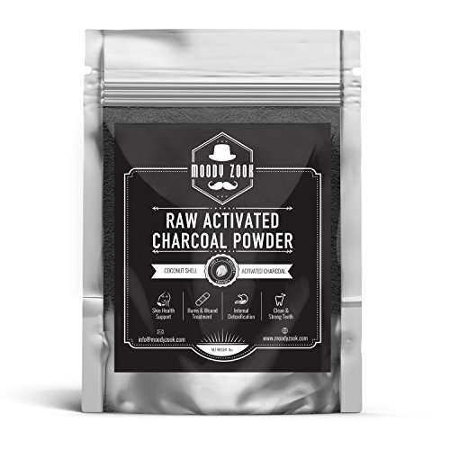 Activated Charcoal Powder by Moody Zook - Organic Charcoal Teeth Whitening Charcoal Toothpaste Powder Carbon Coco Powder - Natural Food Grade Face Mask Raw Charcoal Powder, Detox, Digestion, Skin Care