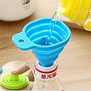 Funnels - 1pc Folding Telescopic Funnel Food Grade Silicone Long Neck Creative Household Mini Funnels Jn - Rectangular Pour Long Grinder Powder Quart Womens Drinking Baking Silicon Funnel To