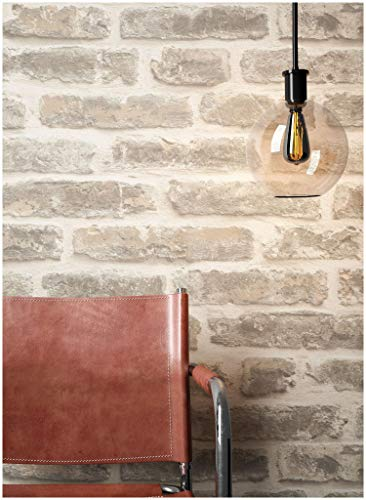 Steintapete Vliestapete Grau Creme, schöne edle Tapete im Steinoptik, moderne 3D Optik für Wohnzimmer, Schlafzimmer oder Küche inklusive Newroom Tapezier Profibroschüre, mit Tipps für perfekteWände