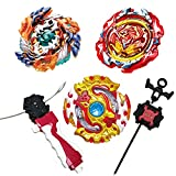 Bey Battle Burst Turbo Evolution Matel Fusion Set with 4D Launcher Toys for Prime Boys Sparking Gyro in Storage Case