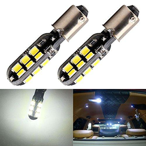 TABEN Super Brillant 2835 24-SMD CanBus BA9 BA9S 53 57 1895 64111 LED Ampoule De Voiture 12V 6000K Xenon Blanc Voiture Dôme Carte Plaque D'immatriculation Lumière (2pcs)