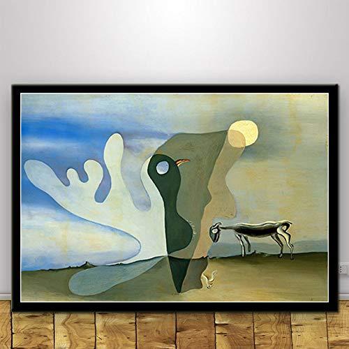 yaoxingfu Kein Rahmen Surrealistisches abstraktes Plakat Wandkunst Bild Poster und Druck...