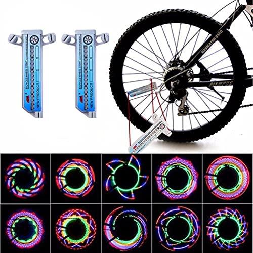 N\C 2 Pieza Luces De Ruedas De Bicicleta-Luces De Llanta De Bicicleta Impermeables-Luces De Radios Luz De Llanta Impermeable De LED Ultrabrillante-con Luz De Rueda De Bicicleta De 32 LED Equipo