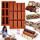 2 PCS JeVenis 12 cavités barres de granola moule caramel formes moule au beurre d'arachide moule barres de chocolat moule