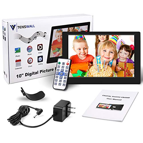 Digital Photo Frame, 10 inch Digital Picture Frame HD 1280x800 16: 10 Full IPS Display Photo/Music/Video/Calendar, Auto…