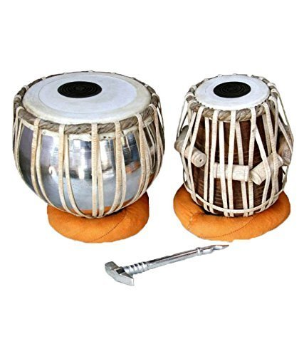 FASHERATI MUSICALS nut/Bolt Tuned ferro Tabla, Bayan made of Stainless Steel, 2.5 kg Dayan Sheesham Wood 4 kg