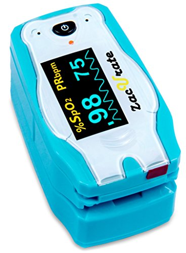 Children Digital Fingertip Pulse Oximeter Blood Oxygen Saturation Monitor with Adorable Animal Theme...