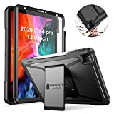 Ztotop Case for iPad Pro 4th Generation 12.9 inch 2020,Build-in Screen Protector,Dual Layer Shockproof Full Body Protective Case with Kickstand and Pencil Holder for iPad Pro 12.9' 4th Gen, Black