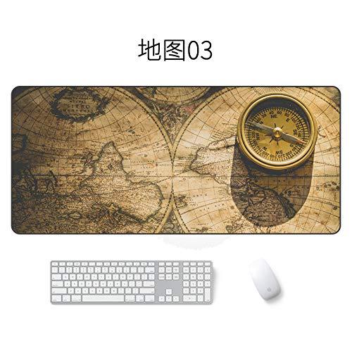 Kartenmausunterlage große wasserdichte Mausunterlagenkarte 03 400 * 900 * 3mm