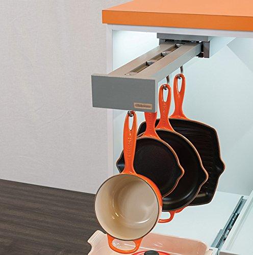 Glideware Blum - Organizador de 5 ganchos (35,5 cm), color gris