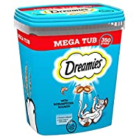 All it takes is a shake - Just shake the tub and see your cat come running for the irresistible taste and texture of Dreamies Cat Treats, a reward to bring out the best side of your furry best friend Enhance all the playful moments you share with you...