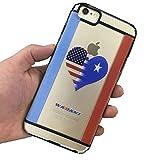iPhone 6 PLUS Wadani, with Heart Shaped Flag of Somalia - Rustic with USA. ( TPU + PC Case )