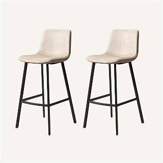 YLCJ Conjunto de 2 Piezas de sillas de Comedor Sillas de Cocina de Cuero Artificial Sillas de recepción con Respaldo y Asiento Acolchado (Color: Blanco tamaño: Patas Negras)