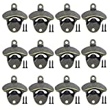 ANSLYQA 12 Pcs Wall Mounted Bottle Opener Vintage Beer Bottle Opener Suitable for Bars KTV Hotels...