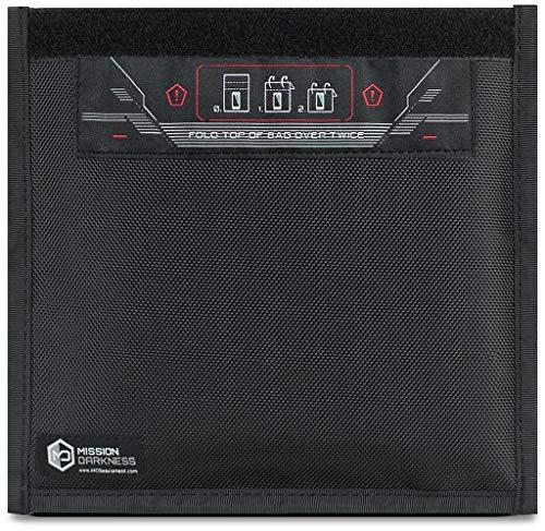 Mission Darkness Faraday Tasche Handyhülle. Blockiert HF-Signale WiFi Mobilfunk 5G LTE RFID EMF GPS Bluetooth NFC. Verhindert Hacking, Verfolgen & Ausspähen auf mobilen Geräten.