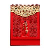 オックス国立タイド風の卓上カレンダーの年の2021年カレンダー12ヶカスタマイズされた卓上カレンダー計画カレンダ (Color : D desk calendar)