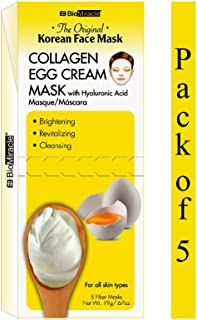 BioMiracle - The Original Korean Collagen Egg Cream Face Mask - 5 Count