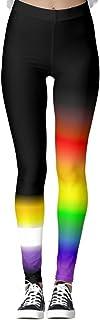 DIYCCY - Pantalones de yoga con banderas de arco iris, para mujer, cintura alta