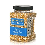 Franklin's Gourmet Popcorn Certified USDA Organic Popping Kernels - 28oz. Tub - Top Rated,...