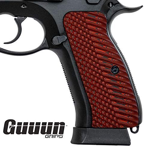 Guuun G10 CZ 75 Grips for Full Size CZ SP-01 OPS Texture - 8 Color Options