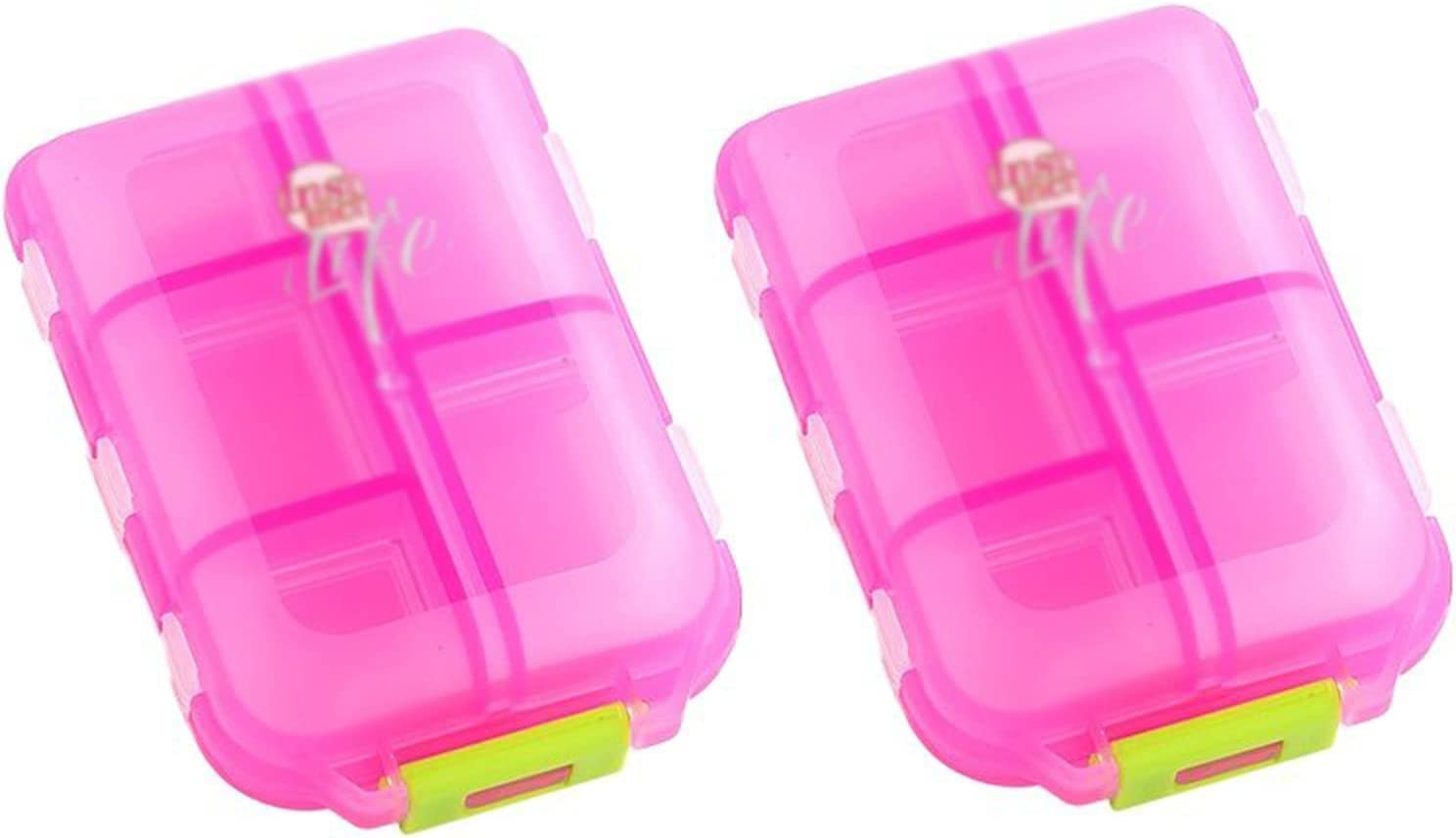 PZJ-Pill Box Portable 2 Pcs Great interest Organiser Pill Free BPA Ranking integrated 1st place Compartments