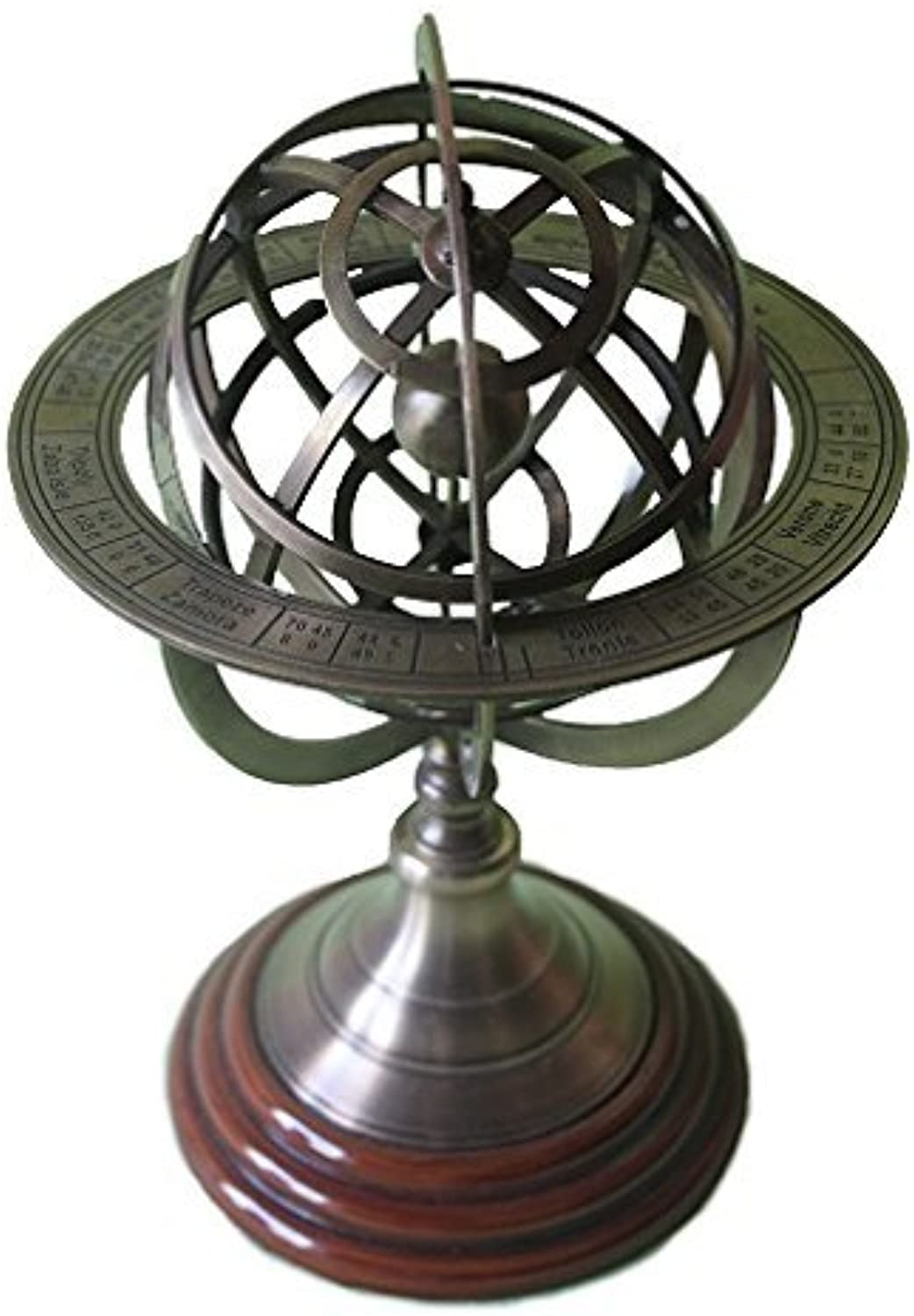 Collectibles Buy Brass Armillary Sphere Globe Clock Spherical Astrolabe Vintage compass