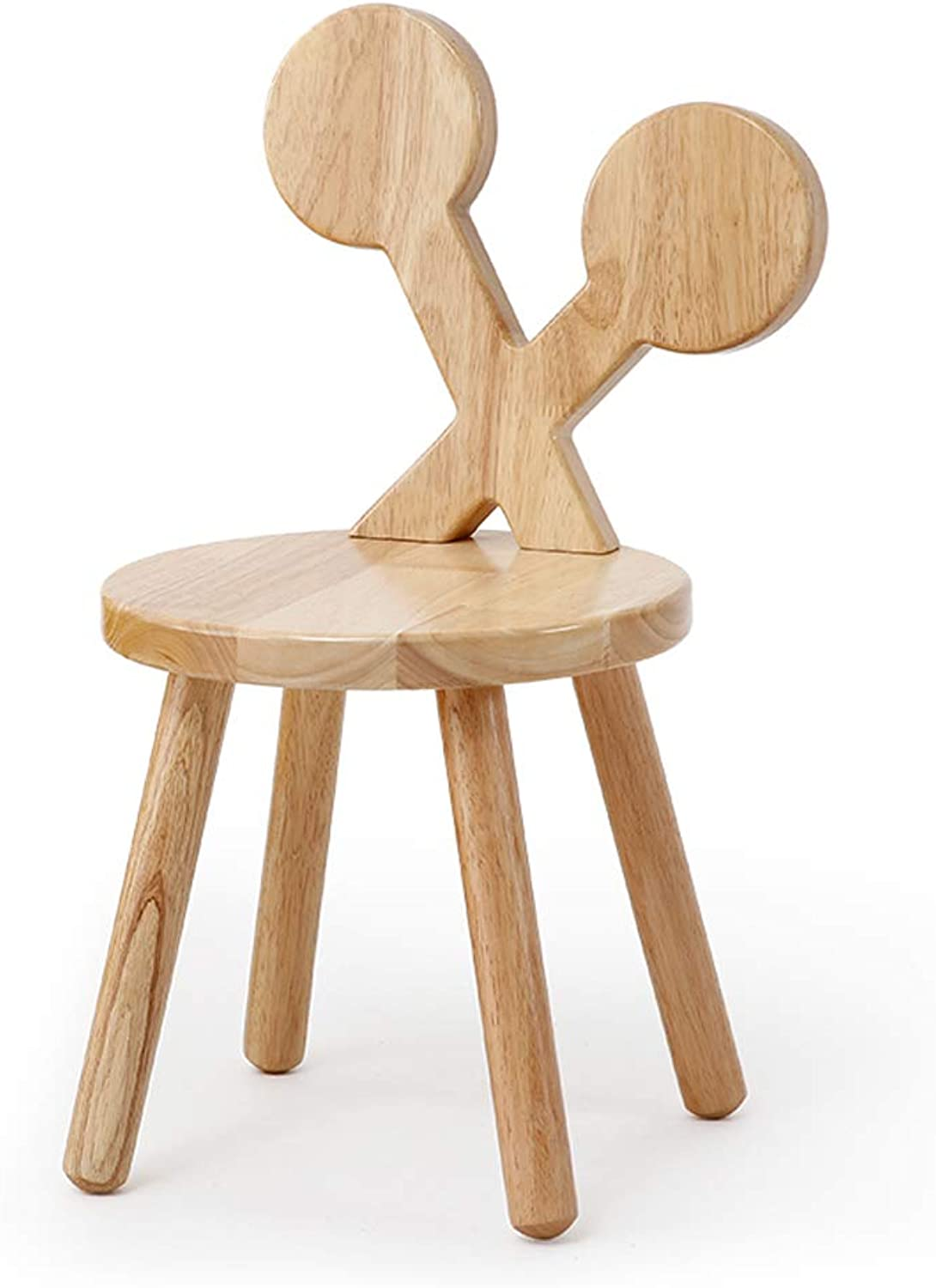 CJH Solid Wood Back Chair Solid Wood Small Bench Home Cartoon Stool Change shoes Bench Baby Chair Stool