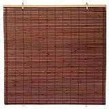 ORIENTAL Furniture Bamboo Cordless Window Shade - Mahogany 24' W