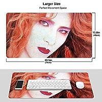 X-Japan Yoshiki マウスパッド 光学マウス対応 パソコン 周辺機器 超大型 防水 洗える 滑り止め 高級感 耐久性が良い 40*75cm