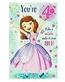 4th Birthday Card - 4 Year Old Birthday Card for Girl - Disney Birthday Card - Princess Sofia Birthday Card