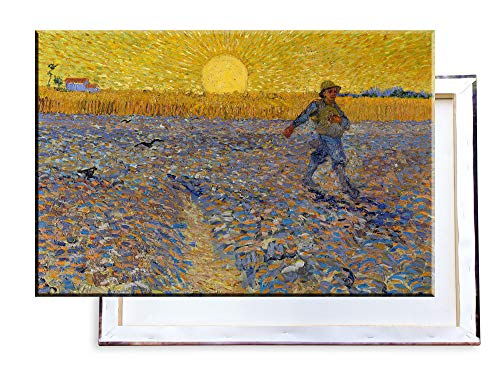 Unified Distribution Vincent Van Gogh - Der Sämann - Klassisches Gemälde - Replik auf Leinwand 100x70 cm