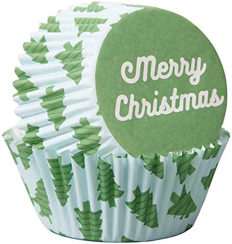 Non-Food Items 415-0-0111 Vasos de horno estándar Merry Tree, Feliz árbol de Navidad, Talla única