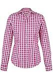 Almsach Damen Trachten-Bluse pink-weiß kariert 'Maria', pink, 34