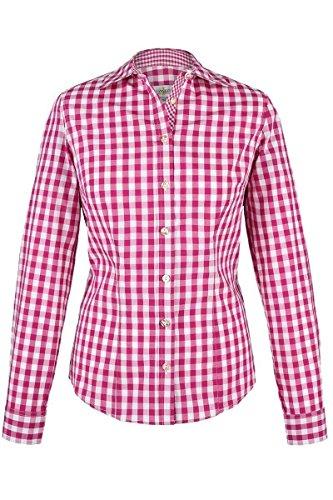 Almsach Damen Trachten-Bluse pink-weiß kariert 'Maria', pink, 50