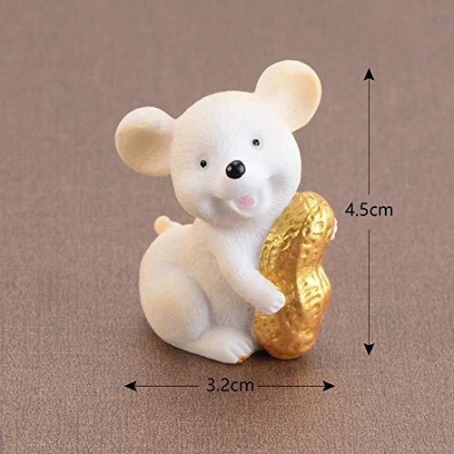 Gbc-type 1 stuks cartoon muis ornamenten rijke muizen klein beeldje desktop handwerk schattige dierendecoratie