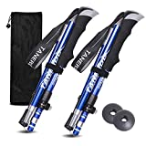 EASY BIG Walking Stick Trekking Poles Collapsible Hiking Poles - Auminum Alloy 7075 Trekking Sticks,Antishock and Quick Lock System, Telescopic, Collapsible, Ultralight (Blue, 43-51Inches/110-130CM)