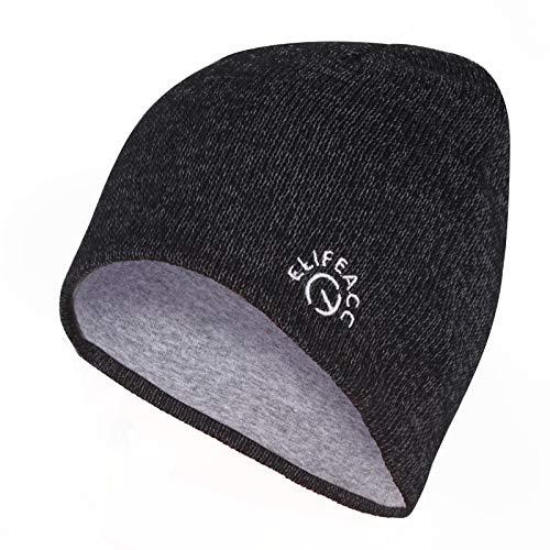 ElifeAcc Reflektierende Beanie-Mütze für Jahreszeiten, für Sicherheit bei Nacht,...
