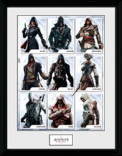 GB Eye Ltd Assassins Creed, Compilation Zeichen Kunstdruck, gerahmt, 30x 40cm, verschiedene