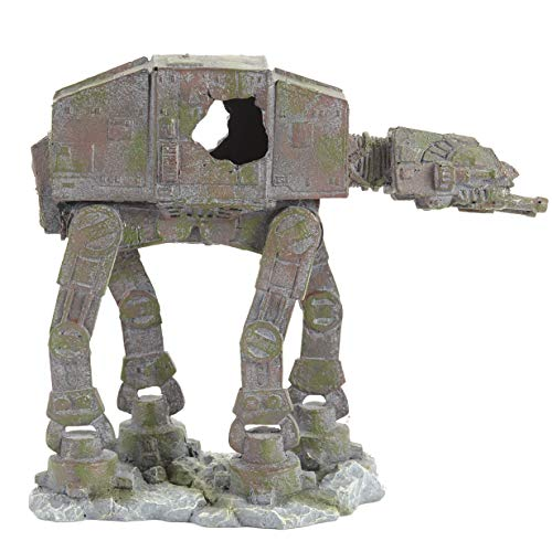 Pet Ting Star Wars AT-AT Fighter Adorno para Acuario y decoración de viveros