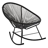 Design Tree Home Acapulco Indoor/Outdoor Rocking Chair, Black